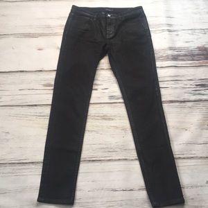 Kate Spade Waxed Jeans Black Denim Skinny 29